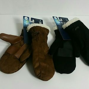 By isotoner bundle of two New Mittens SM/MD 1-Sz